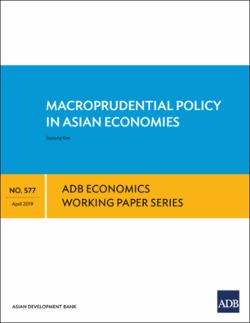 Macroprudential Policy in Asian Economies (EWP No  577)