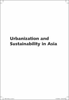 Urbanization and Sustainability in Asia