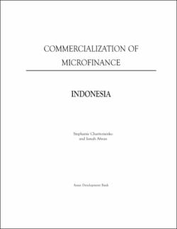 commercialization of microfinance indonesia