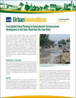 Urban Innovations: From Spatial Urban Planning to