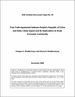 Free trade agreement between peoples republic of china and india free trade agreement between peoples republic of china and india likely impact and its implications to asian economic community platinumwayz