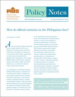 How Do Official Statistics in the Philippines Fare?