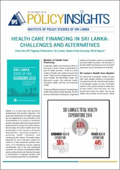 Health Care Financing In Sri Lanka Challenges And Alternatives