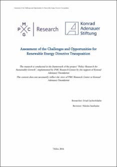 assessment of the challenges and opportunities for renewable  thumbnail
