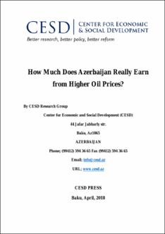 How Much Does Azerbaijan Really Earn from Higher Oil Prices?